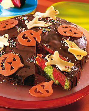 Bunte Halloweentorte